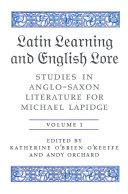 Latin Learning and English Lore