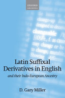 Latin Suffixal Derivatives in English
