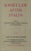 Soviet Law After Stalin..