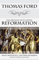 The Christian s Duty Toward Reformation