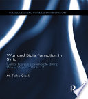 War and State Formation in Syria