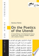 On the Poetics of the Utendi