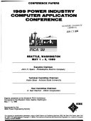 Proceedings of the     International Conference on Power Industry Computer Applications
