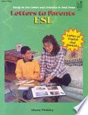 Letters To Parents Esl Book PDF