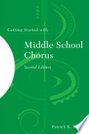 Getting Started with Middle School Chorus Book PDF