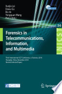 Forensics in Telecommunications  Information and Multimedia