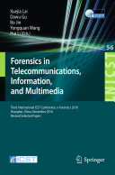 Forensics in Telecommunications, Information and Multimedia Book