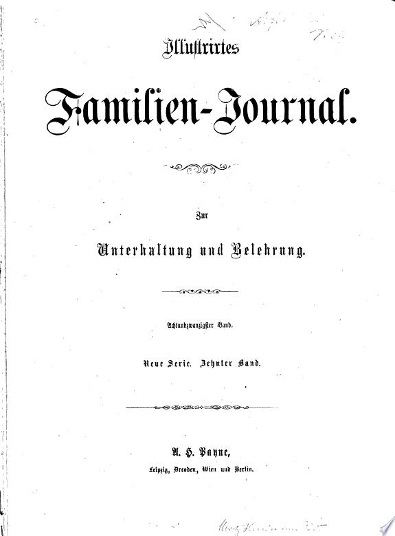 Illustrirtes Familien Journal