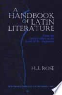 A Handbook Of Latin Literature