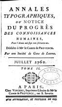 Annales typographiques ou notice du progrès des connoissances humaines ... ebook