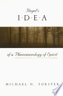 Hegel S Idea Of A Phenomenology Of Spirit