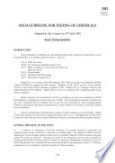 OECD Guidelines for the Testing of Chemicals  Section 3 Test No  301  Ready Biodegradability