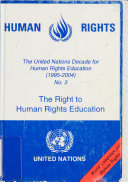 The Right to Human Rights Education