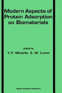 Modern Aspects of Protein Adsorption on Biomaterials Book