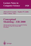 Conceptual Modeling   ER 2000