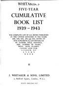 Whitaker S Five Year Cumulative Book List Book
