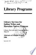 Library Services For Indian Tribes And Hawaiian Natives Program Book PDF