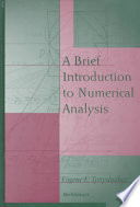 A Brief Introduction to Numerical Analysis
