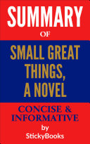 Summary of  Small Great Things  A Novel  by Jodi Picoult   Concise   Informative Summary   StickyBooks
