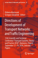 Directions of Development of Transport Networks and Traffic Engineering