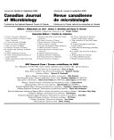 Canadian Journal of Microbiology Book