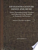 Fifteenth-century Dance and Music: Treatises and music