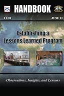 Establishing a Lessons Learned Program