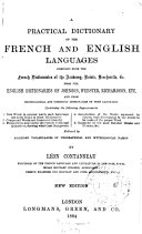 A Practical Dictionary of the French and English Languages