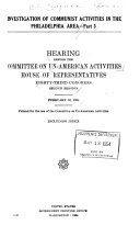 Investigation of Communist Activities in the State of California