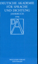 Deutsche Akademie für Sprache und Dichtung. Jahrbuch 1996