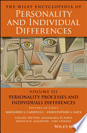 The Wiley Encyclopedia of Personality and Individual Differences, Personality Processes and Individuals Differences