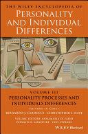 The Wiley Encyclopedia of Personality and Individual Differences  Personality Processes and Individuals Differences