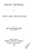 Grace Truman  Or  Love and Principle Book