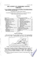 Soil Survey [of] Albemarle County, Virginia