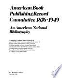 American Book Publishing Record Cumulative, 1876-1949: Fiction. Juvenile fiction