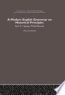 A Modern English Grammar on Historical Principles Book PDF