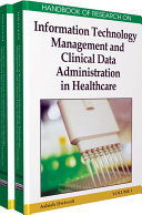 Pdf Handbook of Research on Information Technology Management and Clinical Data Administration in Healthcare Telecharger