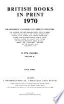 British Books in Print  , Volume 2
