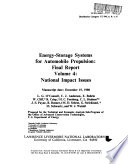 Energy Storage Systems For Automobile Propulsion Book PDF