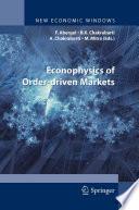 Econophysics Of Order Driven Markets Book PDF