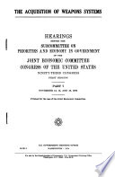 The Acquisition of Weapons Systems