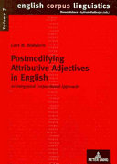 Postmodifying Attributive Adjectives in English