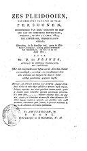 Zes pleidooien, ten behoeven van even zo vele persoonen, beschuldigd van deel genomen te hebben aan de onrustige bewegingen, welken op den 11 april 1811, tot Amsterdam hebben plaats gehad