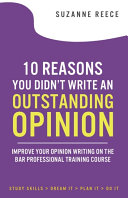 10 Reasons You Didn t Write An Outstanding Opinion