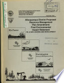 Albuquerque District Resource s  Management Plan  RMP  Amendment  Oil and Gas Leasing and Development