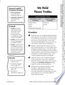 Academic Vocabulary Level 4  We Hold These Truths Book