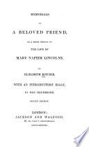 Memorials of a Beloved Friend
