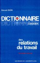 Pdf Dictionnaire canadien des relations du travail Telecharger