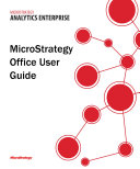Office User Guide for MicroStrategy 9 5