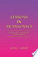 Lessons in Transonics